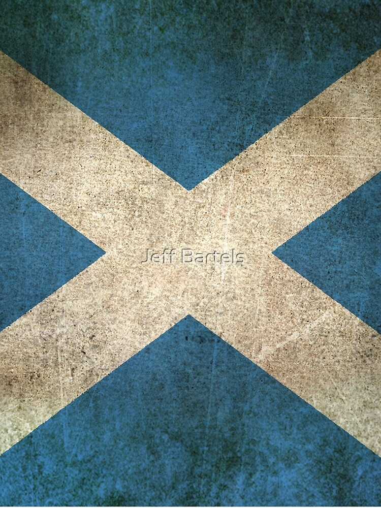 Old and Worn Distressed Vintage Flag of Scotland by JeffBartels