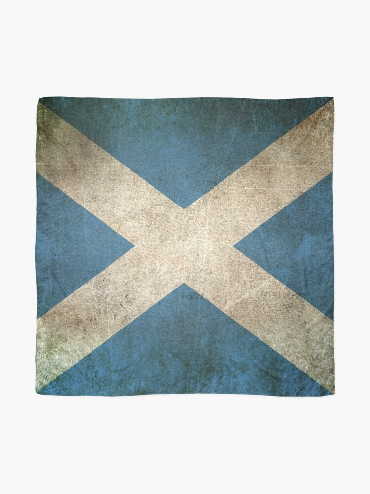 Alternate view of Old and Worn Distressed Vintage Flag of Scotland Scarf