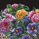 Impressionistic Flowers Garden by Irina Sztukowski