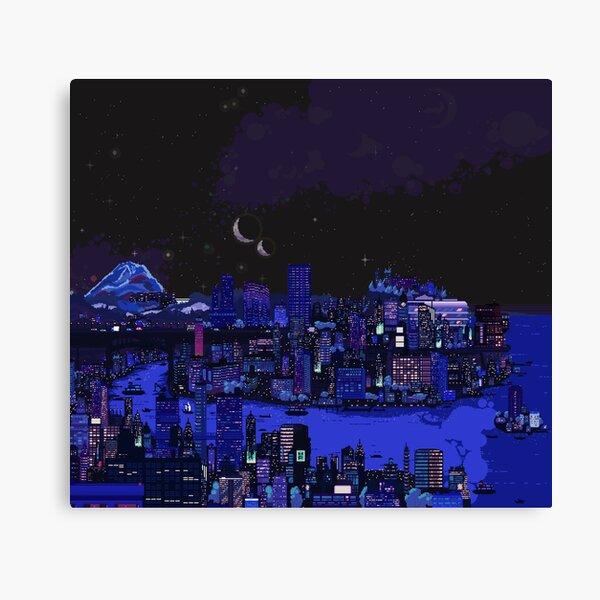 Nightlife of Carbon Valley Canvas Print