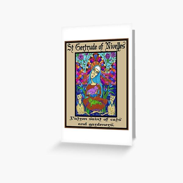 St Gertrude of Nivelles Greeting Card