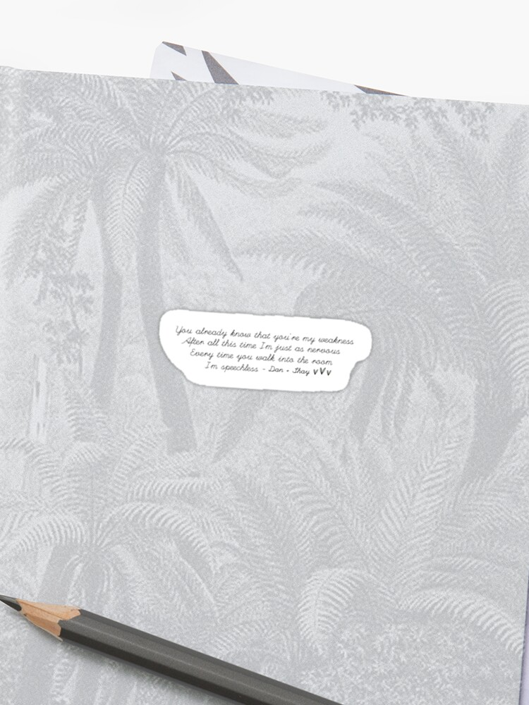 Dan + Shay Speechless lyrics | Sticker