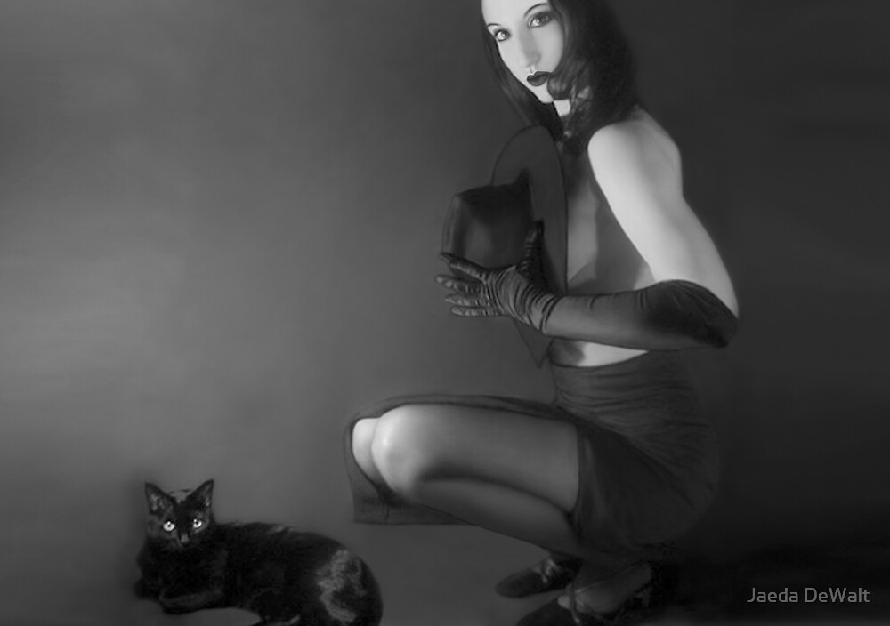 Cat Eyes - Self Portrait by Jaeda DeWalt