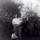 my Mother with Dennis my older brother and me 1960 by cdcantrell