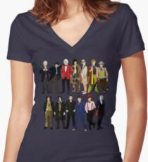 Doctor Who - Alternate Costumes 13 Doctors Women's Fitted V-Neck T-Shirt