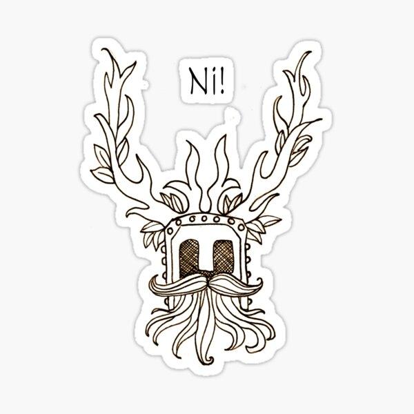 Holy Grail Knights who say Ni! Sticker