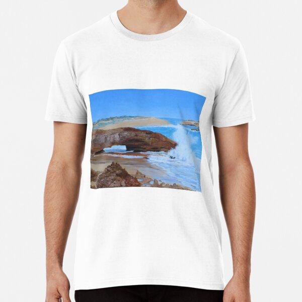 Oil Painting of Natural Arch, Bowman Scenic Drive, Beachport, Limestone Coast. Premium T-Shirt