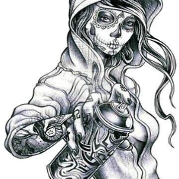 Skull Girl by nphillyp