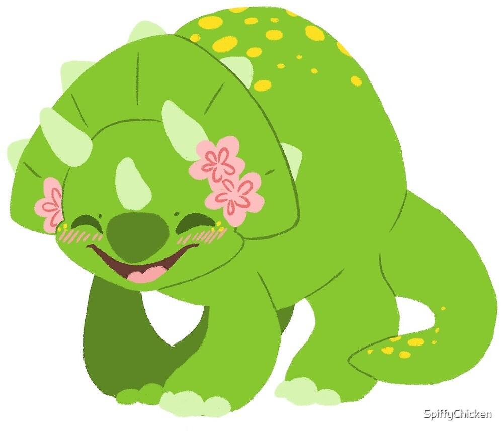 Triceratops Dinosaur Sticker by SpiffyChicken