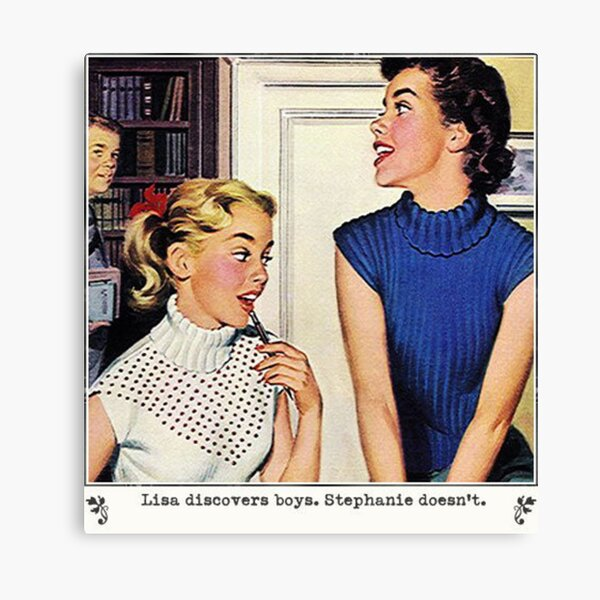 Vintage Lesbian Illustration Canvas Print