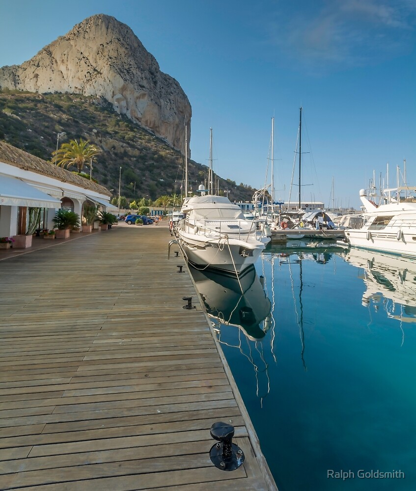 Rock of Ifach from Calpe Marina by Ralph Goldsmith