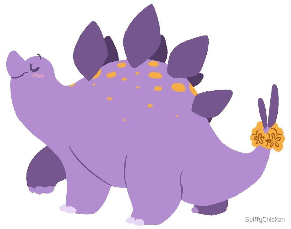 Stegosaurus Dinosaur Sticker by SpiffyChicken