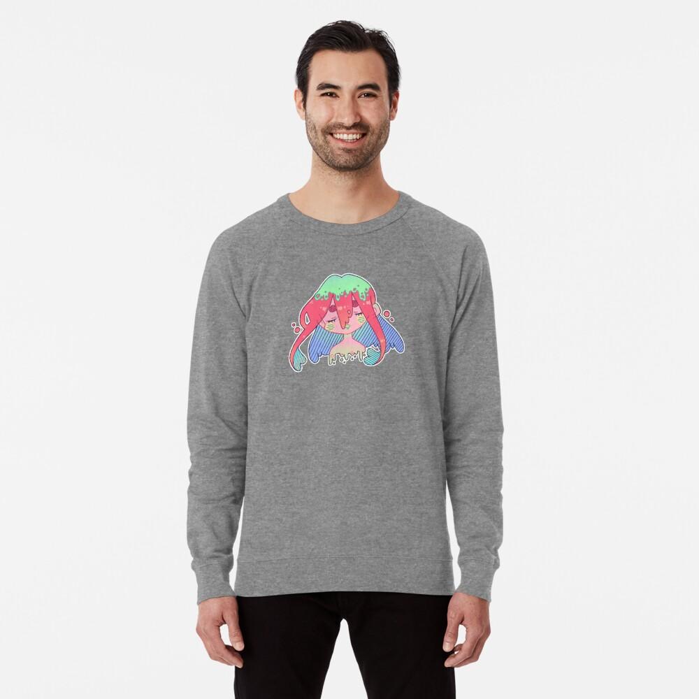 Green Slime - Anime Cartoon Art  Lightweight Sweatshirt