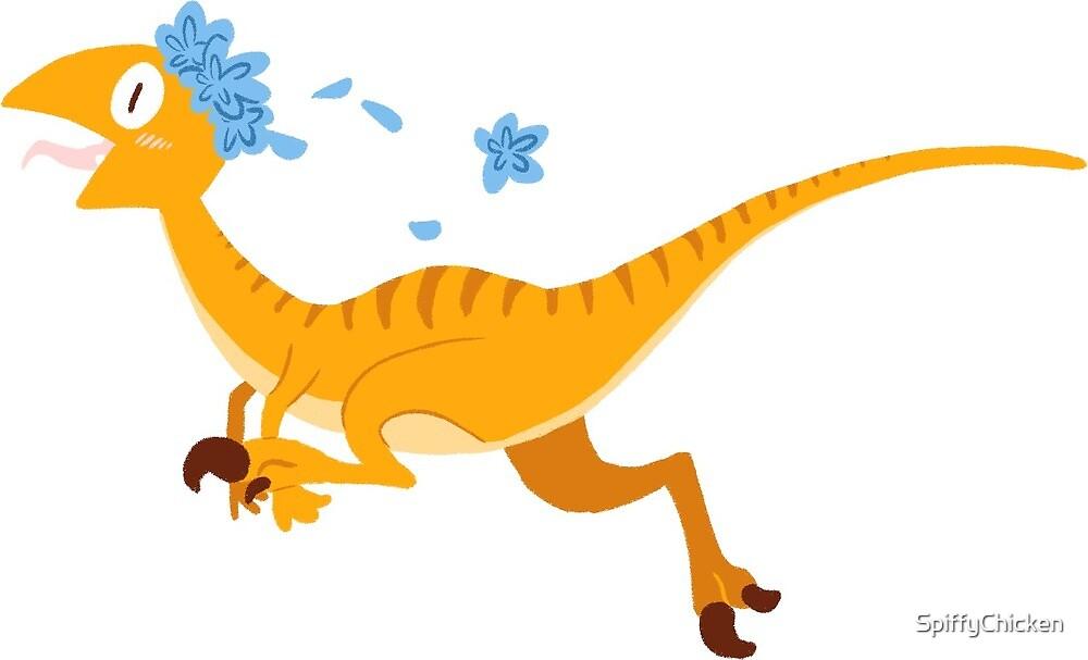 Velociraptor Dinosaur Sticker by SpiffyChicken