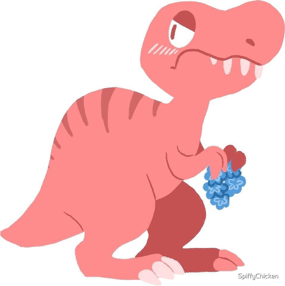 T-Rex Dinosaur Sticker by SpiffyChicken