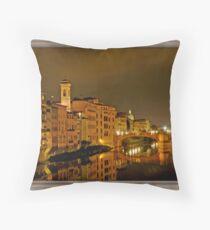 A Night in Firenze Throw Pillow