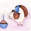 Guinea Pig and Birthday Cake by WolfySilver