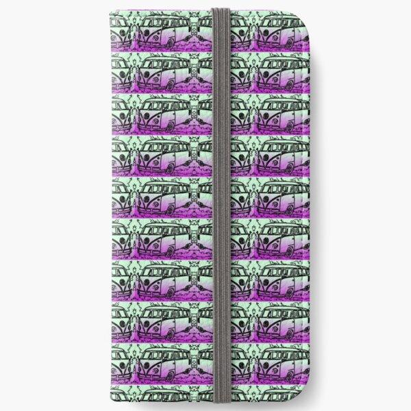 Volkswagen T2 purple green iPhone Wallet