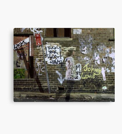 Johnny loves...you Canvas Print