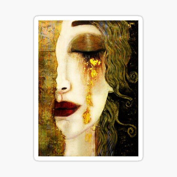 inspirado en la pintura de Anne Marie Zimmerman al estilo de Gustav Klimt. Probablemente no haya escuchado el nombre de la artista francesa moderna Anne Marie Zilberman Pegatina