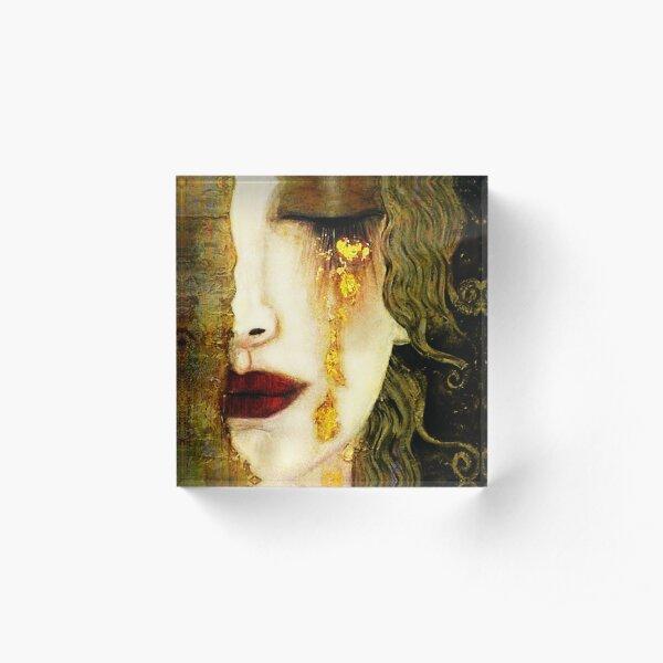 Golden Tears Freya's Tears of Gold Anne Marie Zimmerman (School of Klimt) Acrylic Block