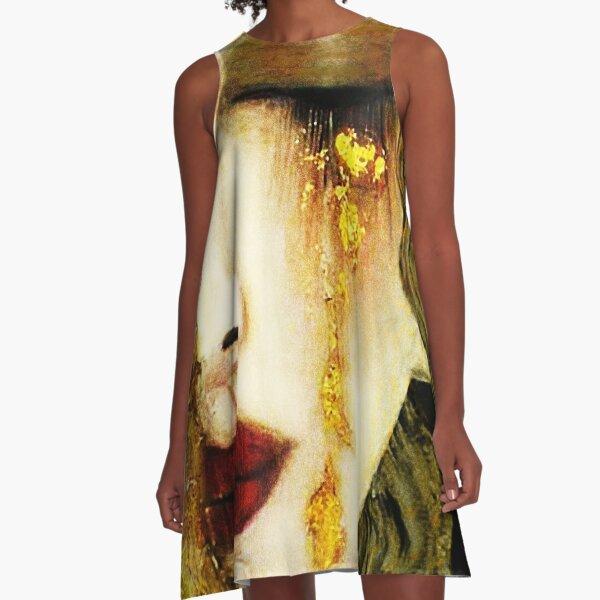 Golden Tears Freya's Tears of Gold Anne Marie Zimmerman (School of Klimt) A-Line Dress
