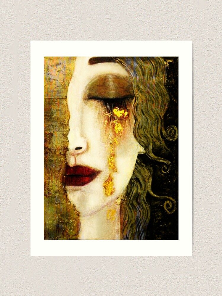 Alternate view of Gustav Klimt,  Golden Tears, Freyas Art Print