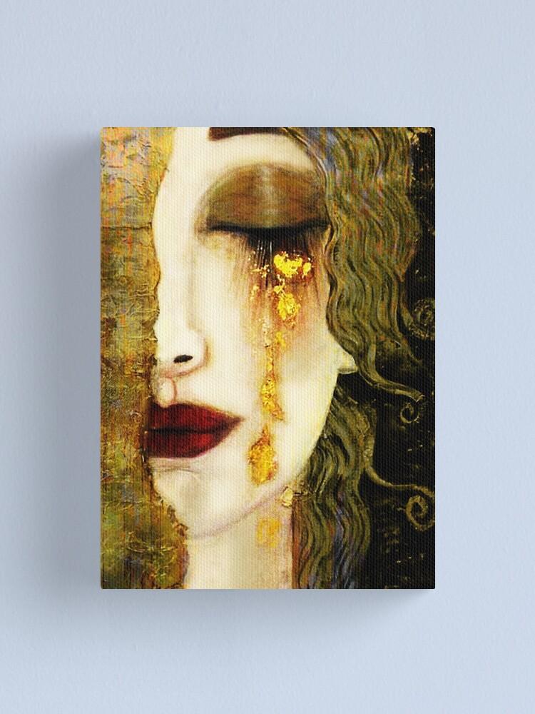 Alternate view of Gustav Klimt,  Golden Tears, Freyas Canvas Print