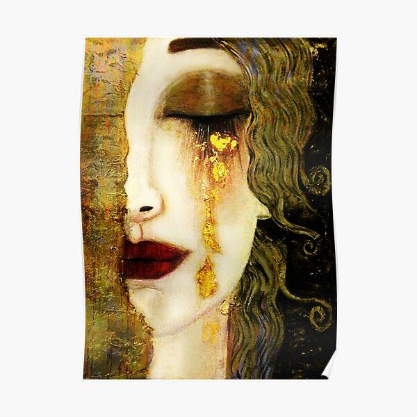 Golden Tears Freya's Tears of Gold Anne Marie Zimmerman (School of Klimt) Poster