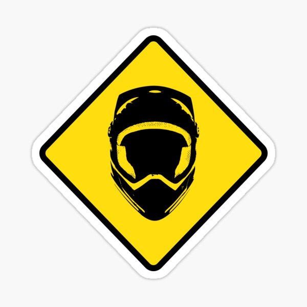 Mountain Biker Enduro Downhill Sign Pegatina