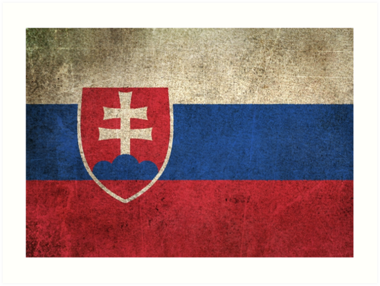 Old and Worn Distressed Vintage Flag of Slovakia by jeff bartels