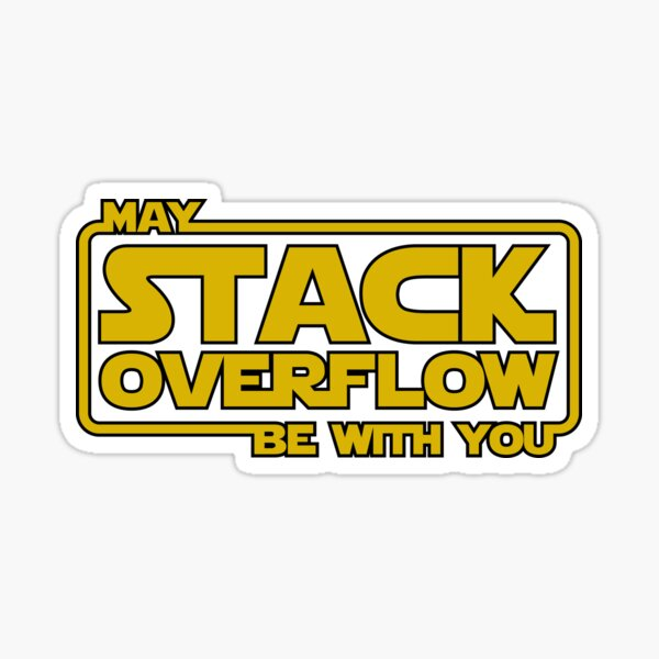 Stack Overflow with you Pegatina