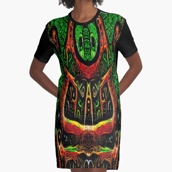 ABSTRACT ARTWORK - THRONE OF THE OWLS - CREEPY DYSTOPIAN ARTWORK TO FREAK OUT YOUR FLATMATE BY JANE HOLLOWAY Graphic T-Shirt Dress