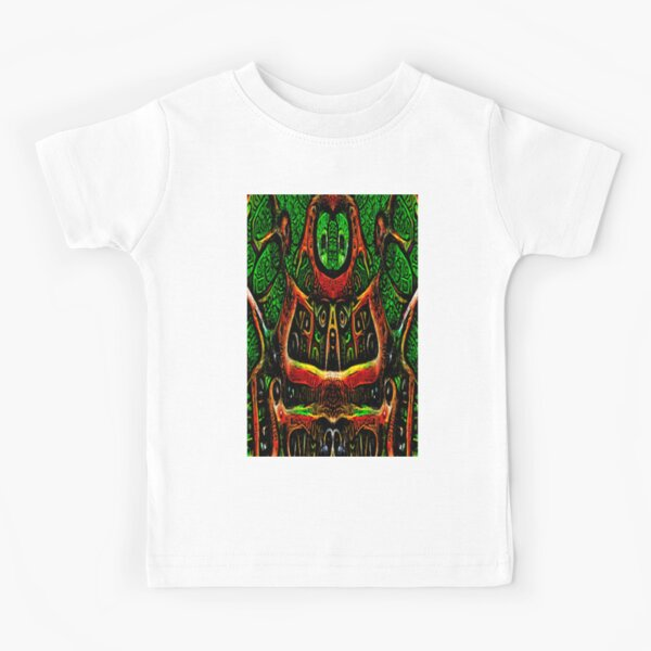 ABSTRACT ARTWORK - THRONE OF THE OWLS - CREEPY DYSTOPIAN ARTWORK TO FREAK OUT YOUR FLATMATE BY JANE HOLLOWAY Kids T-Shirt