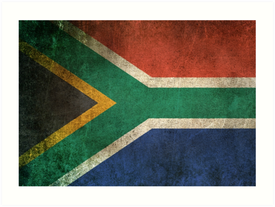 Old and Worn Distressed Vintage Flag of South Africa by jeff bartels