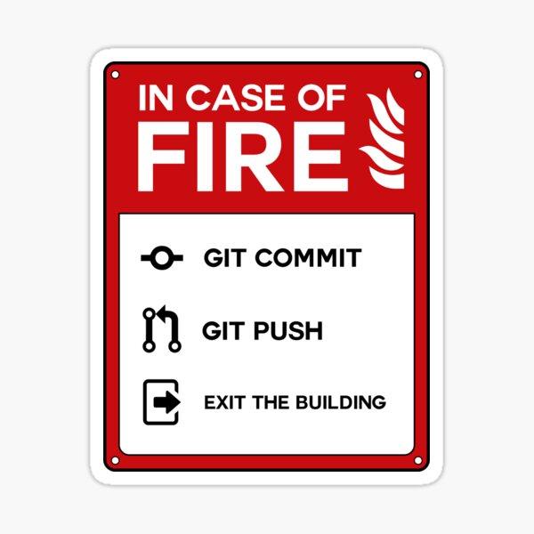 En cas d'incendie Sticker