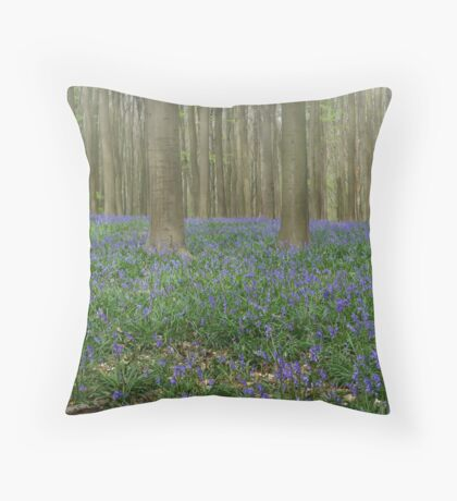 Hallerbos Blues Throw Pillow