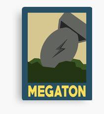 Retro Megaton Canvas Print