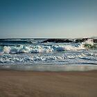 Waves at Lights Beach by Elaine Teague