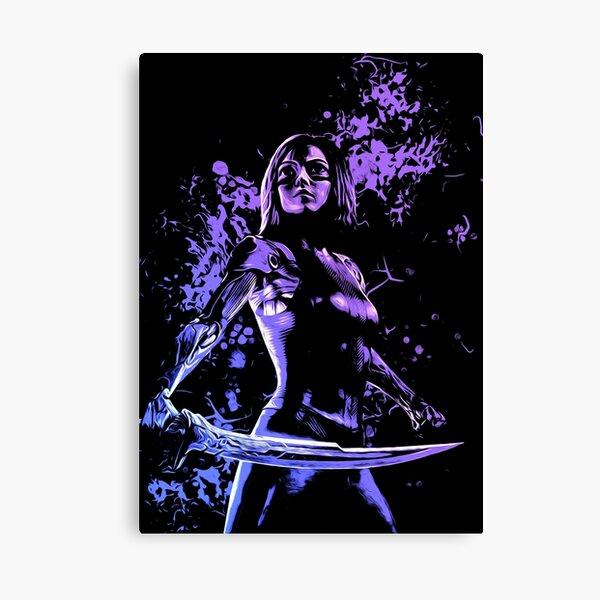 Fight Angel Purple 1 Canvas Print