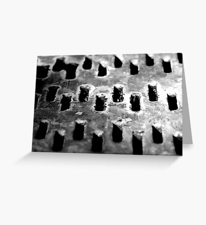 Grated Greeting Card