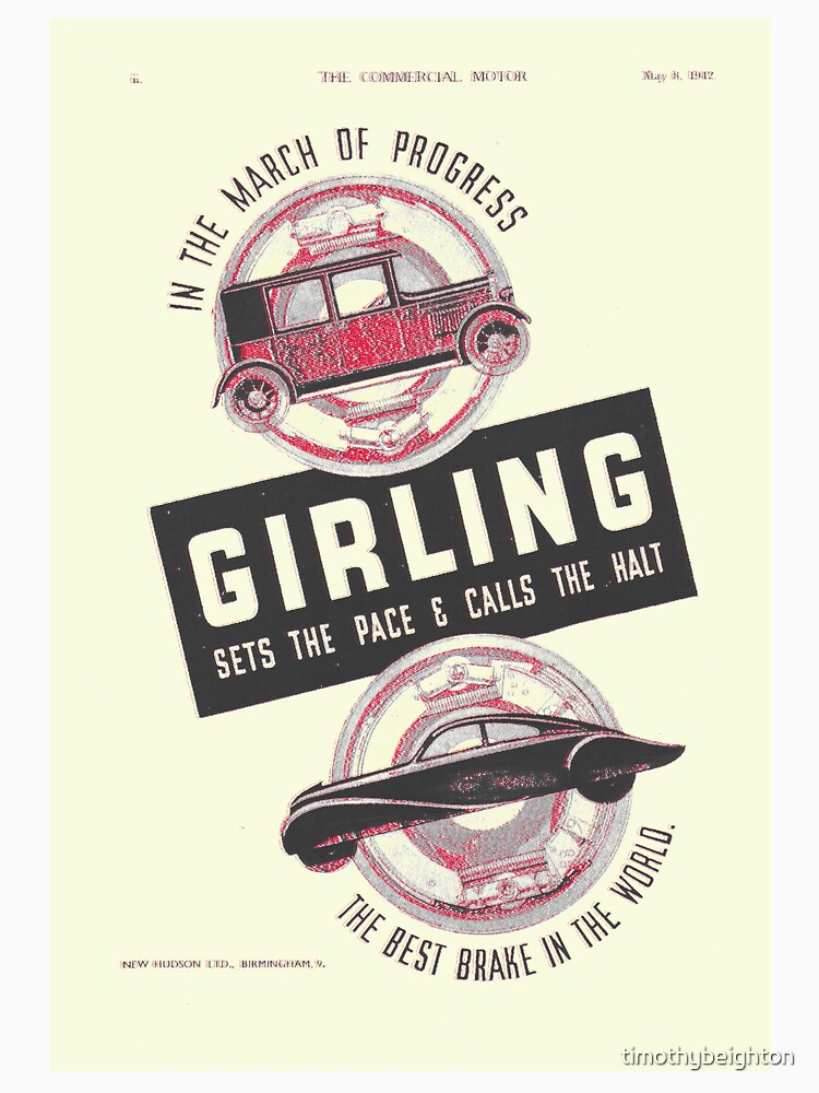 'Girling-the best brakes in the world!' Advert by timothybeighton