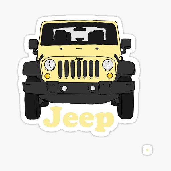 jeep wrangler amarillo Pegatina