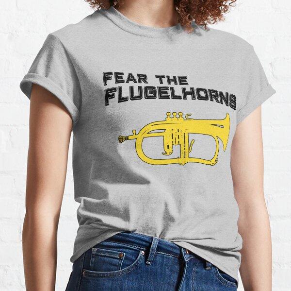 Funny flugelhorn gift, Marching Band, Concert Band - Fear the flugelhorns Classic T-Shirt