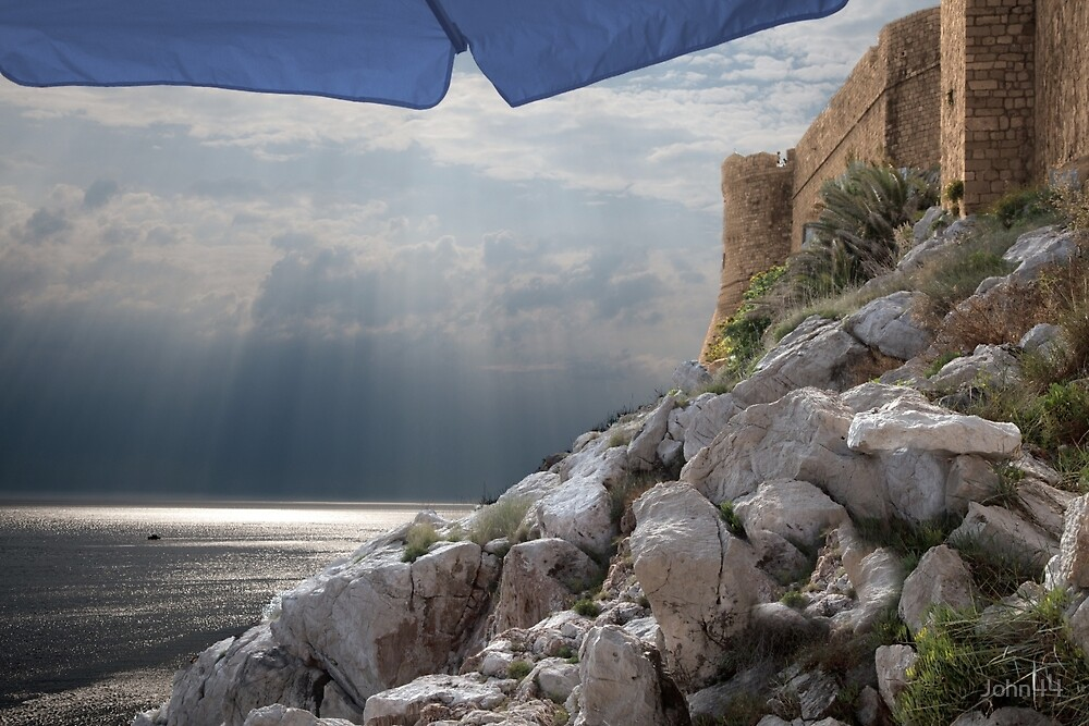 ...from under the umbrella..Dubrovnik-Croatia  by John44