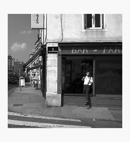 Cutting A Corner - Nancy, France Photographic Print
