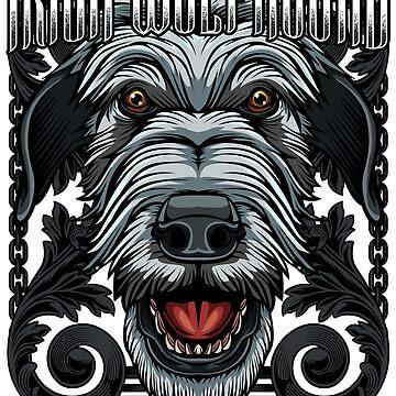 Irish Wolfhound Dog owner pet dogs gift idea by Lumio