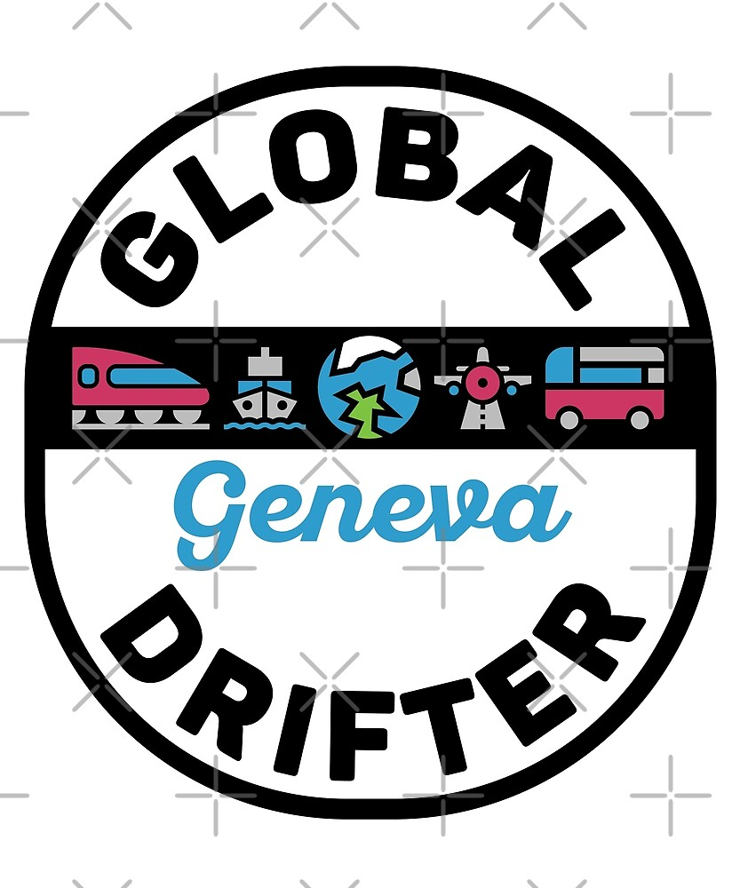 Geneva Switzerland Global Drifter by designkitsch