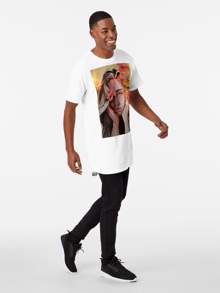 Vista alternativa de Camiseta larga ROSE