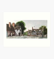 """A Neighbourly Chat"" - Lacock, Wiltshire Art Print"